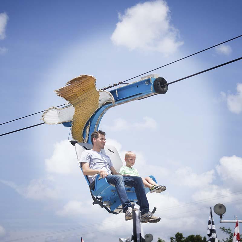 eagle zipline ride pigeon forge