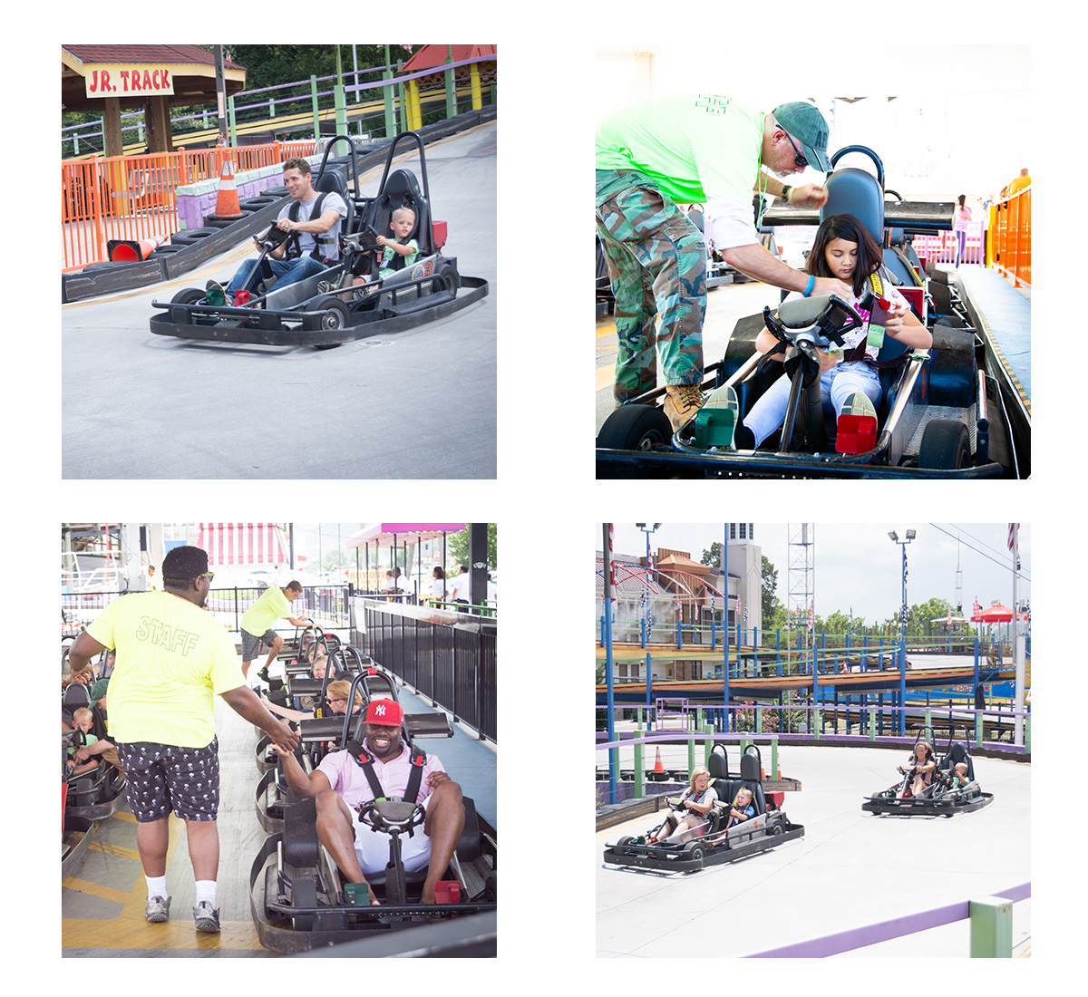 Go karts family vacation pigeon forge
