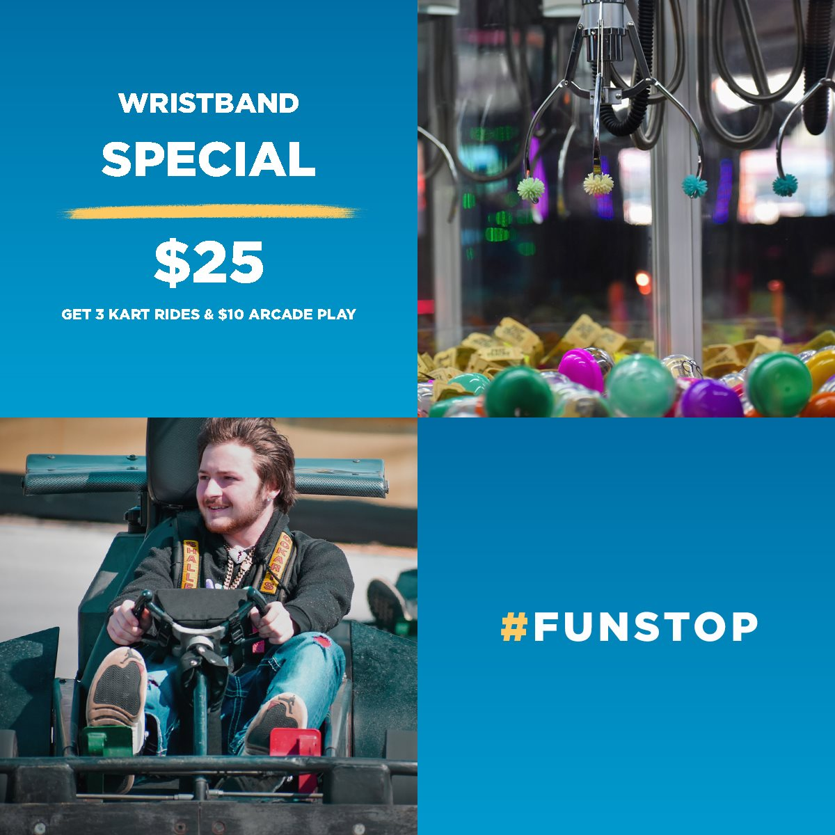Fun Stop Pigeon Forge Wristband Special